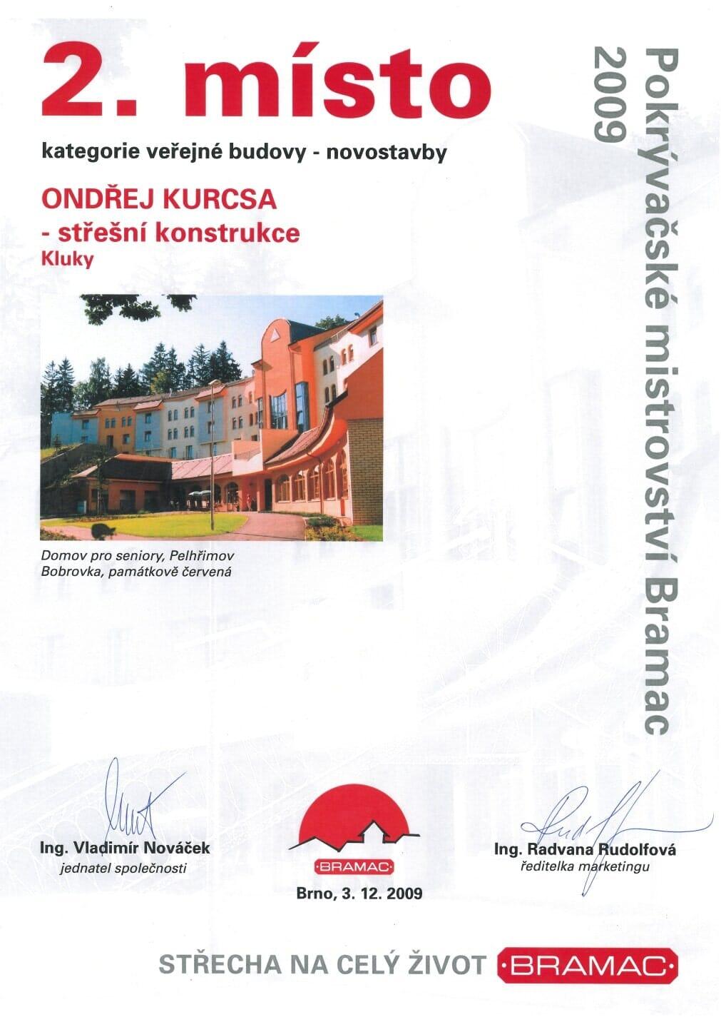 Střechy Kutná Hora - Kurcsa - Osvědčení 1